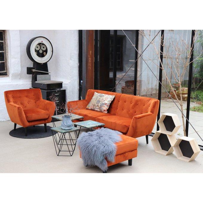 Диван трехместный Monte House Nordic оранжевого цвета