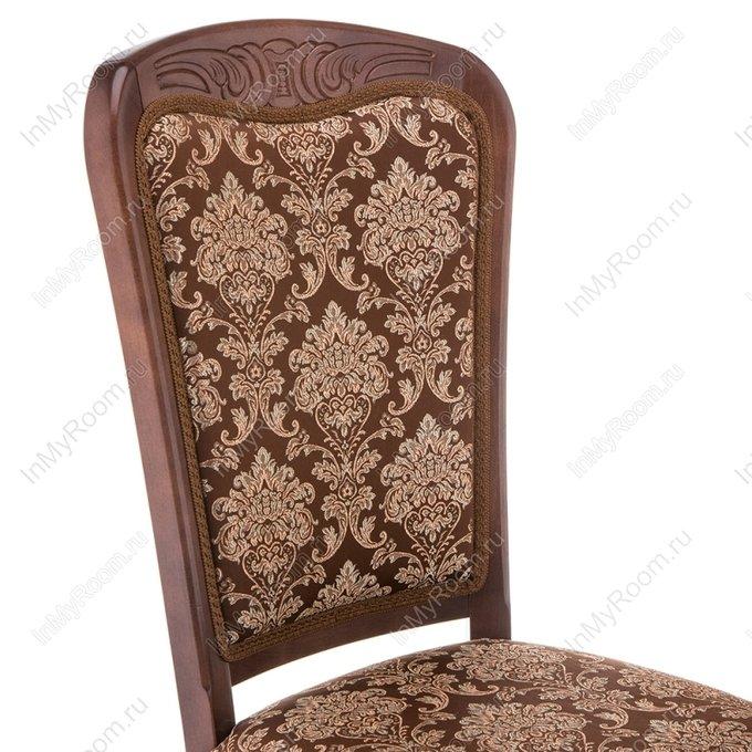 Обеденный стул Клето с обивкой шоколадного цвета