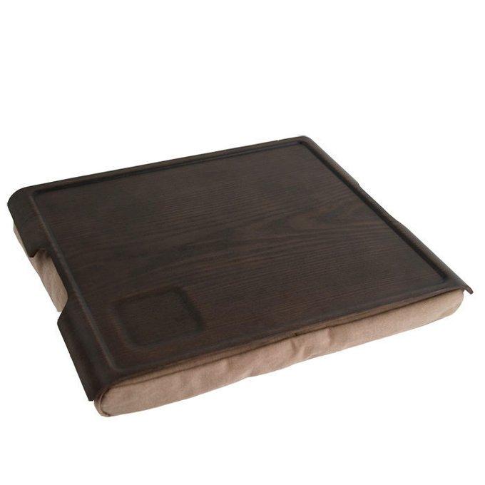 Подставка с деревянным подносом laptray венге-коричневая