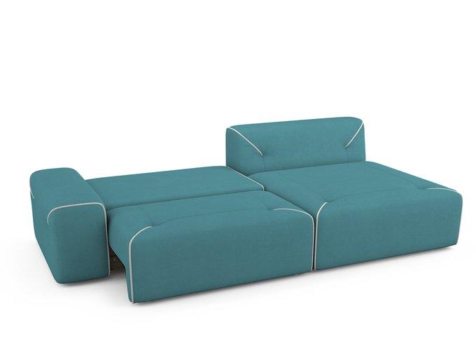 Угловой Диван-кровать Portu правый бирюзового цвета