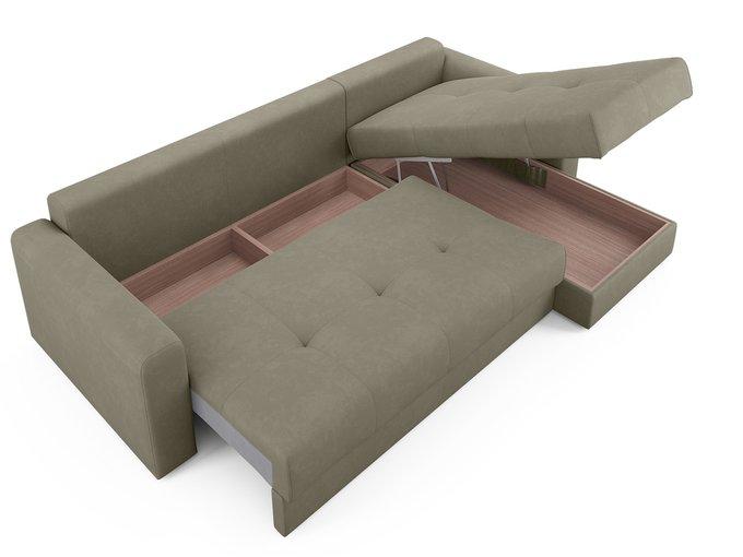 Угловой диван-кровать Ruiz бежево-серого цвета