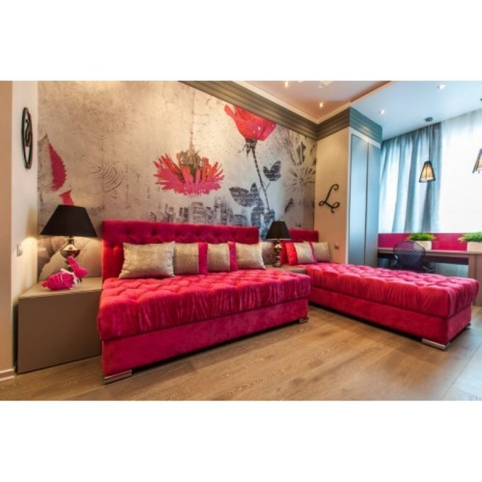 Трехместный диван-кровать Сиенна с ящиком для хранения