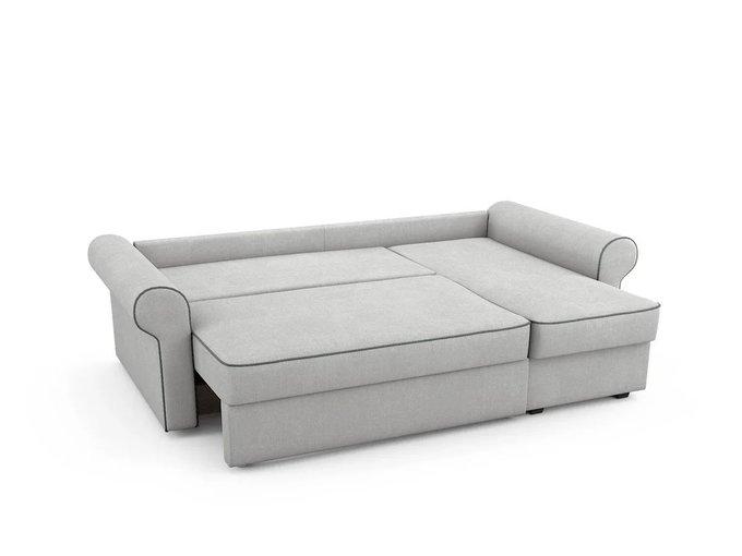 Угловой Диван-кровать Tulon правый светло-серого цвета