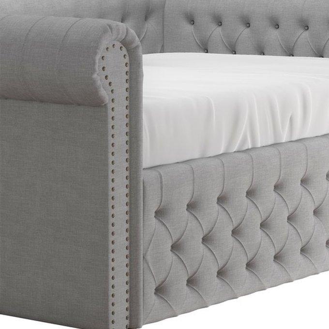 Диван-кровать Chelsy серого цвета 140х200
