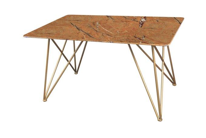 Стол обеденный Сакраменто со стеклянной столешницей коричневого цвета