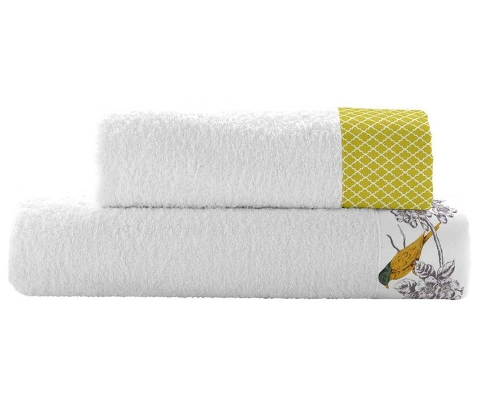Набор из двух полотенец Spring birds из хлопка