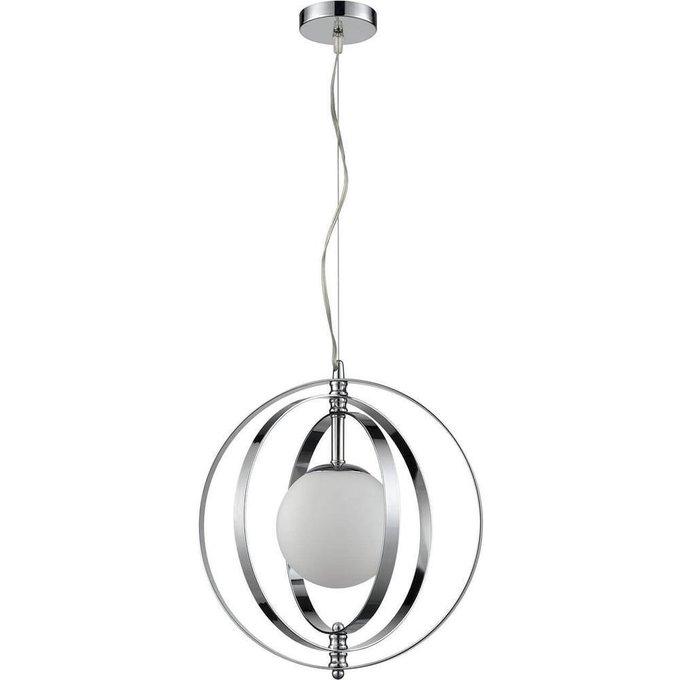 Подвесной светильник Orion с плафоном из стекла белого цвета
