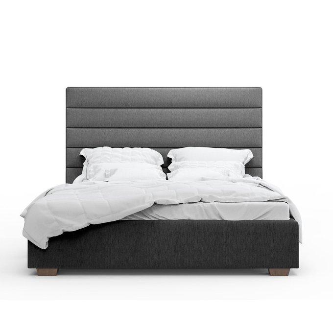 Кровать Джейси темно-серого цвета 140х200 с подъемным механизмом