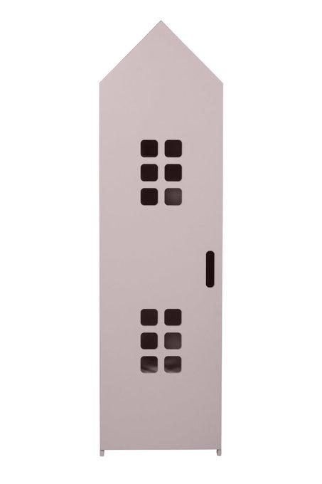 Стеллаж-домик City3 цвета пудры