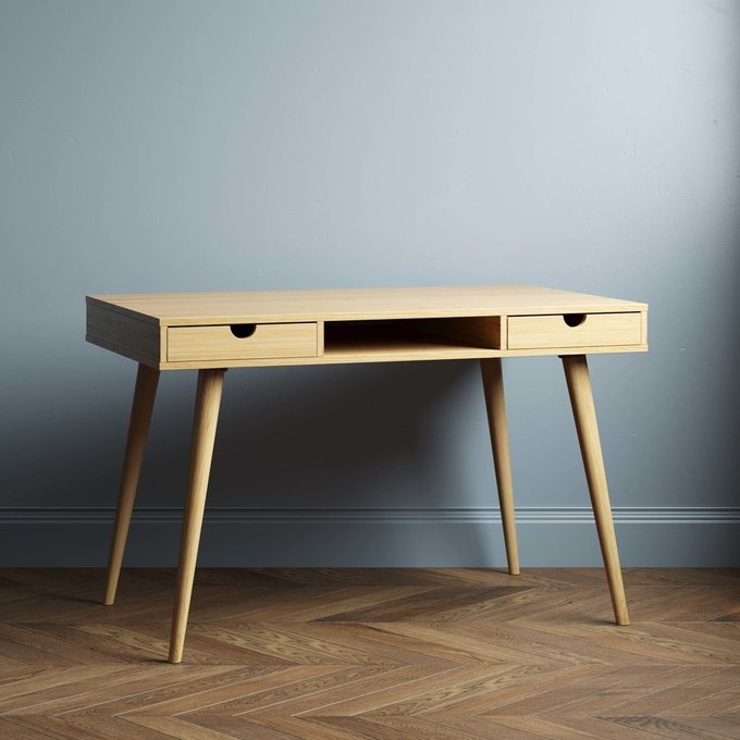 Письменный стол Scandinavia 140x60 с белыми ящиками