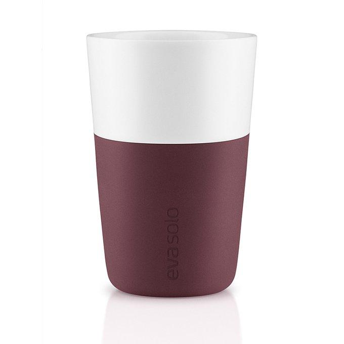 Чашки для латте 2 шт. бургунди