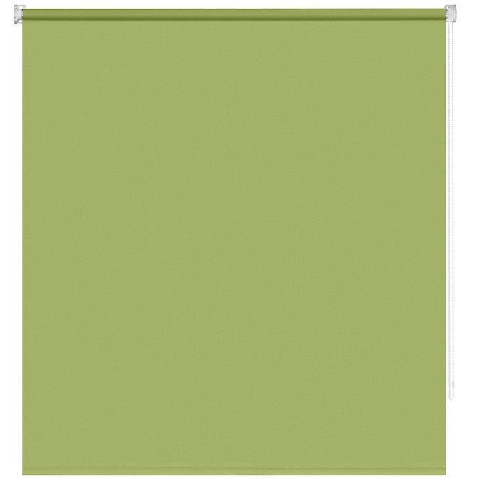 Рулонная штора Миниролл Плайн зеленого цвета 100x160
