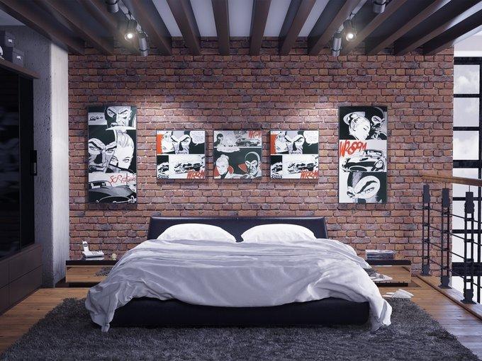 """Кровать """"Vatta"""" со съемным чехлом 160х200 см"""