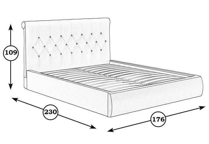 Кровать Тиффани коричневого цвета с ортопедическим основанием 160х200