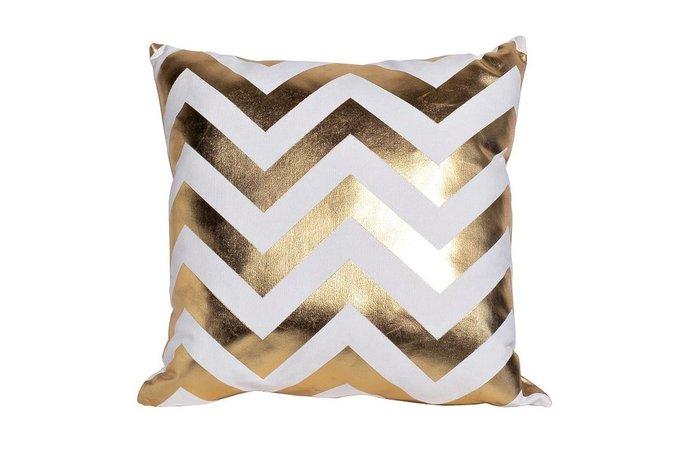 Декоративная подушка Зигзаг с чехлом из хлопка
