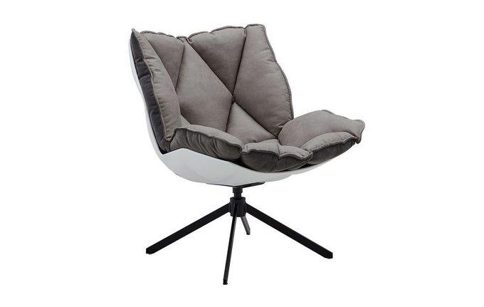 Дизайнерское кресло серого цвета