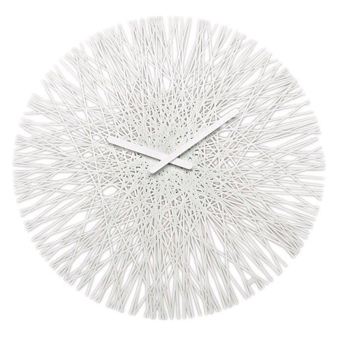 Часы настенные Silk белого цвета