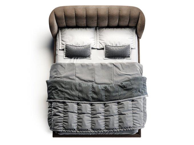 Кровать Tulip коричневого цвета 160х200