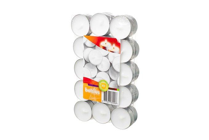 Набор чайных свечей белого цвета