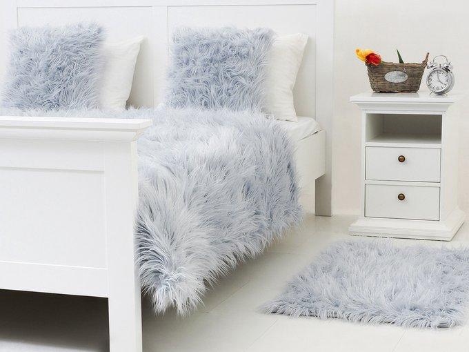 Коврик Furry серо-голубого цвета 60х90