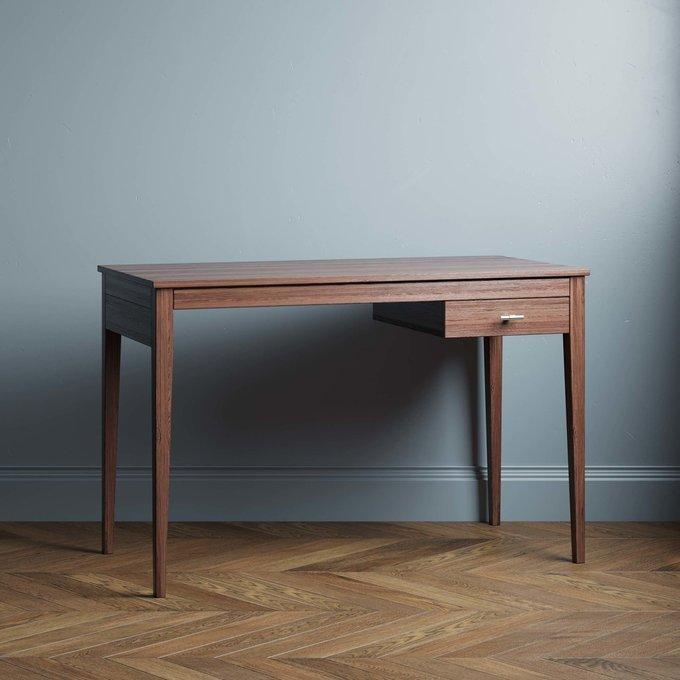 Письменный стол Ustas-3 120х60 с одним ящиком цвета орех