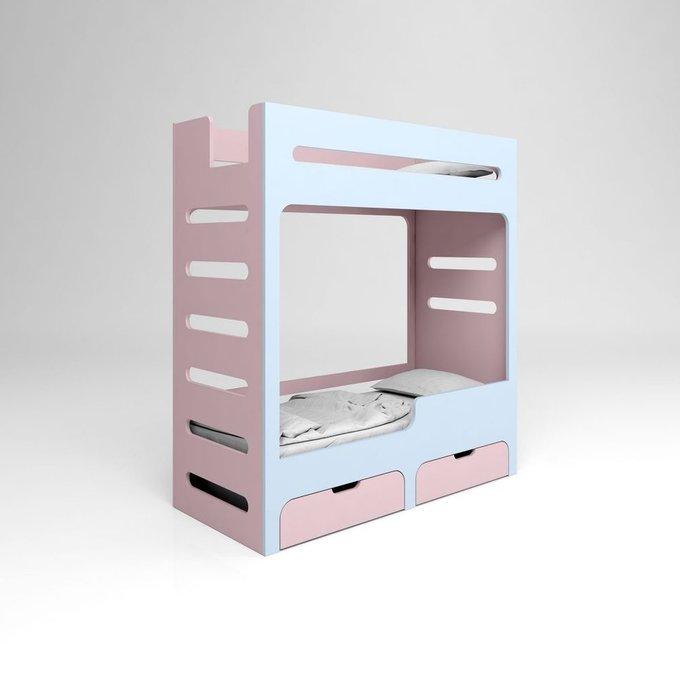 Кровать двухъярусная с ящиками playply MOVE