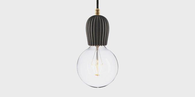 Подвесной светильник Beton Rib black