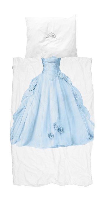 Комплект постельного белья Принцесса снежно-голубого цвета