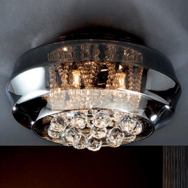 """Потолочный светильник Schuller """"Ares"""" с плафоном из зеркального стекла"""