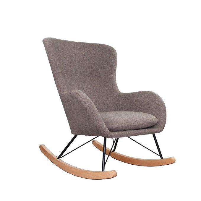 Кресло-качалка Sherlok кофейного цвета