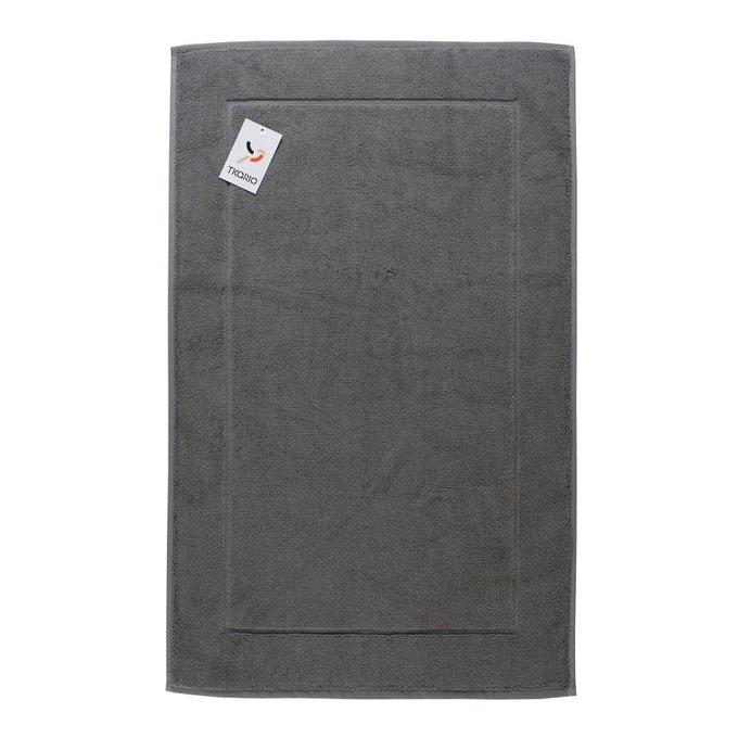 Коврик для ванной из хлопка темно-серого цвета 80х50