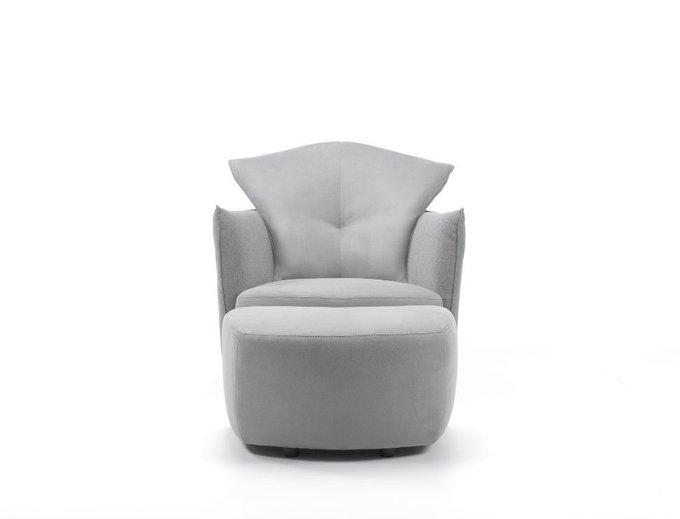 Поворотное кресло Pepe с регулируемым подголовником темно-серого цвета