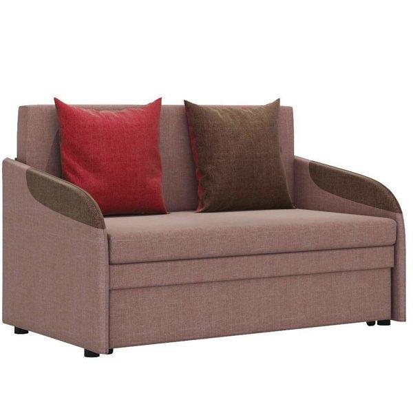 Диван-кровать Громит М в обивке из велюра коричневого цвета