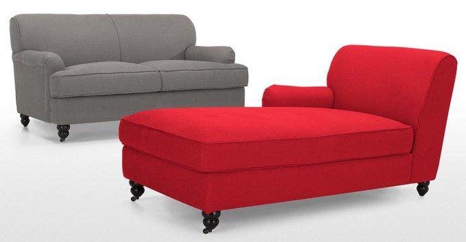 Раскладной диван Orson двухместный серого цвета