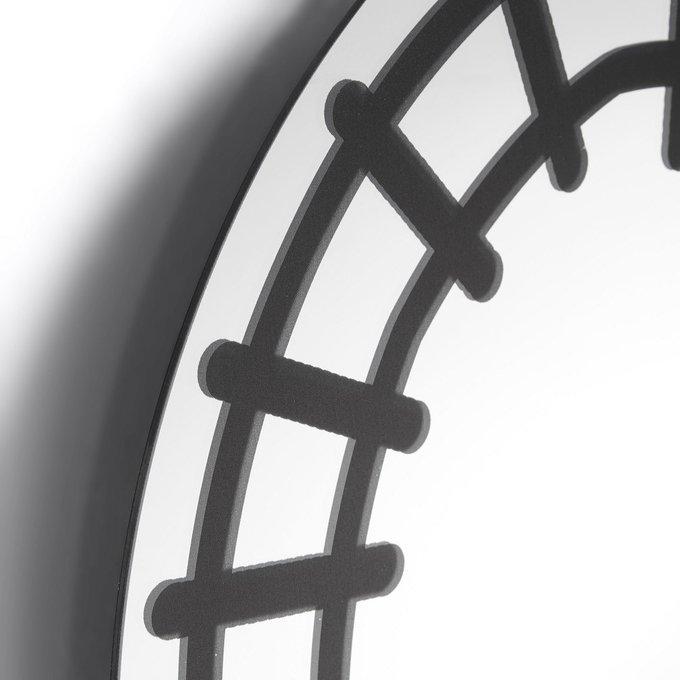 Круглое зеркало Chantel с черным рисунком