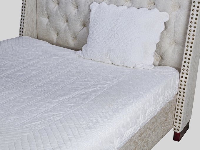Кровать декорирована молдингами 160х200