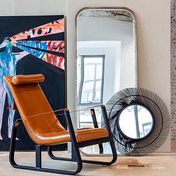 Настенное зеркало Элуиз серебряного цвета