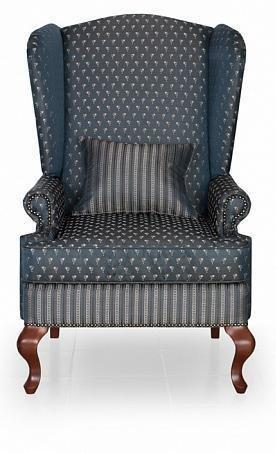 Кресло Пэчворк Лорд темно-синего цвета