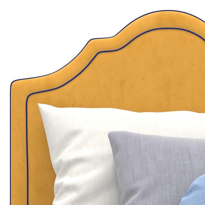 Односпальная кровать Kylie Kids на ножках желтого цвета 120х200