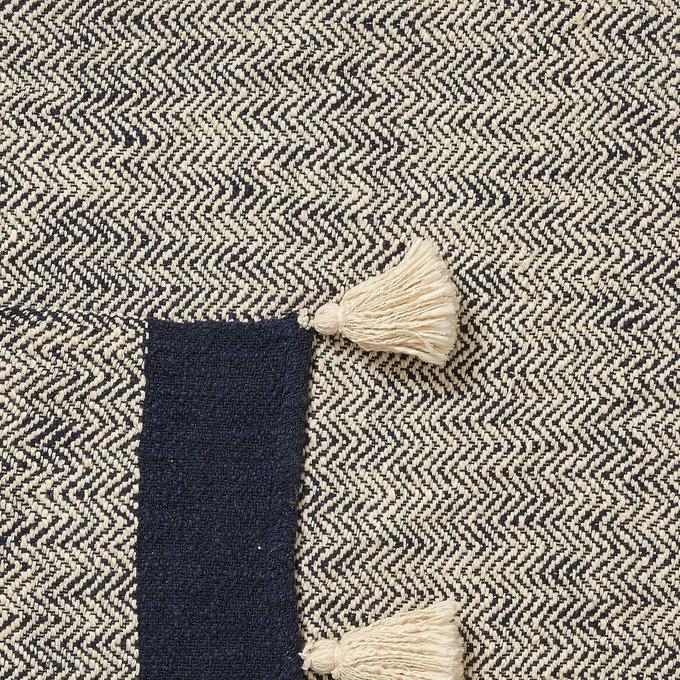 Плед Ginnie синего цвета 125x150