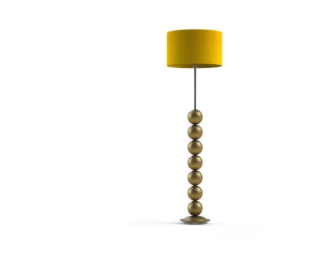 Торшер SPIRIT Gold с абажуром из ткани