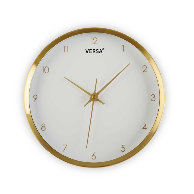 Настенные часы с белым циферблатом