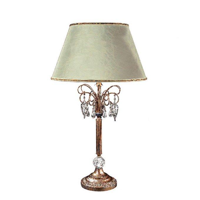 Настольная лампа Renzo Del Ventisette с абажуром цвета слоновой кости с золотым кантом