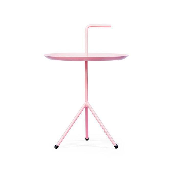 Кофейный столик розового цвета