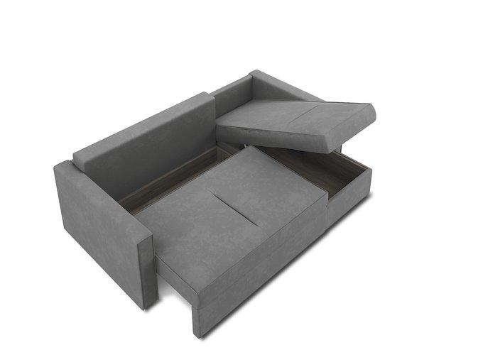Угловой диван-кровать Macao серого цвета