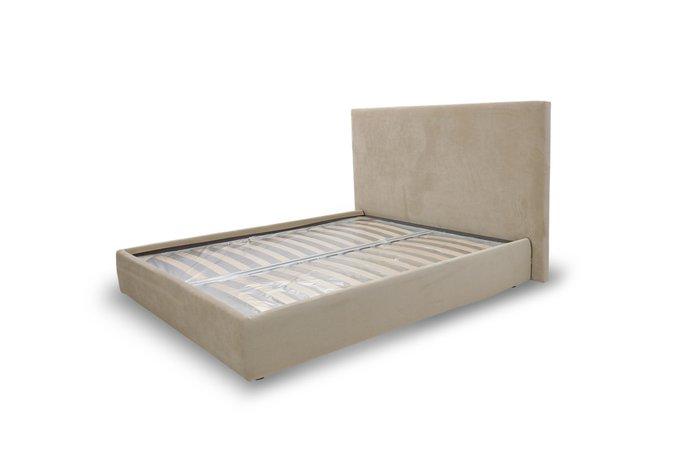 Кровать Лора бежевого цвета 160х200