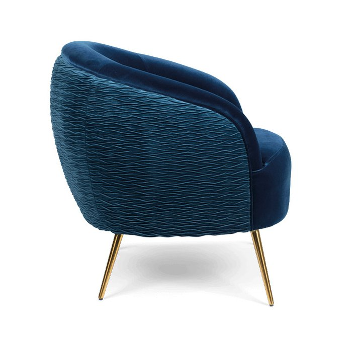 Кресло So Curvy синего цвета