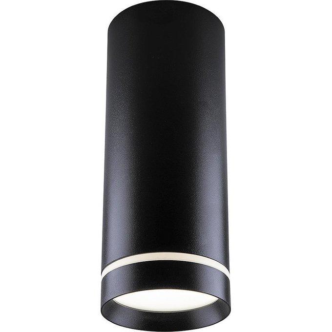 Потолочный светодиодный светильник черного цвета