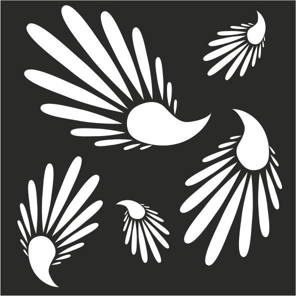 Резная зеркальная панель: Перья птицы счастья