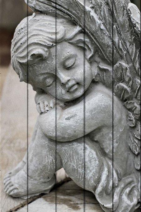 Картина на дереве Ангел
